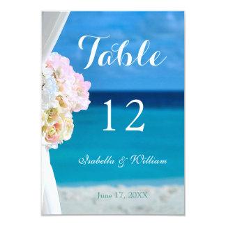 Ocean Beach Summer Wedding Table Number