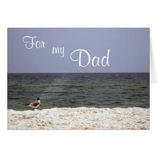 Ocean Beach View Father's Day Card Inside Poem