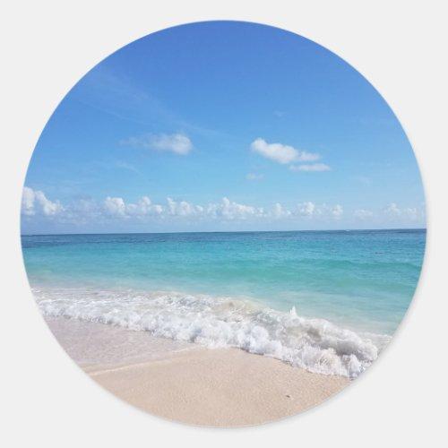 Ocean beach view stickers