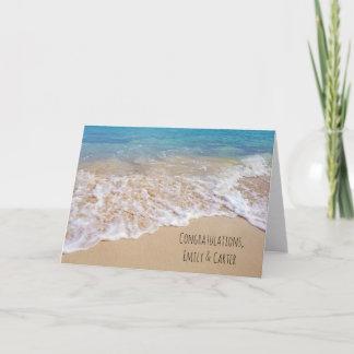 Ocean Beach wedding Card