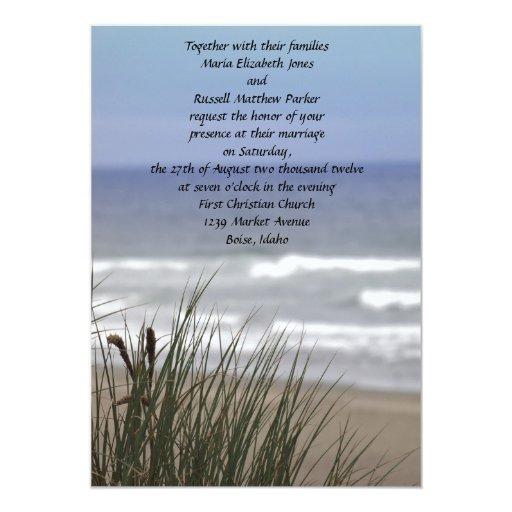 Ocean Beach Wedding Invitations