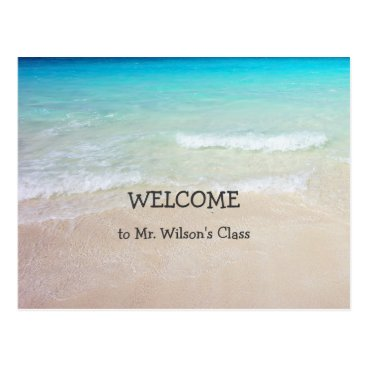 Beach Themed Ocean Beach Welcome Back to School Postcards