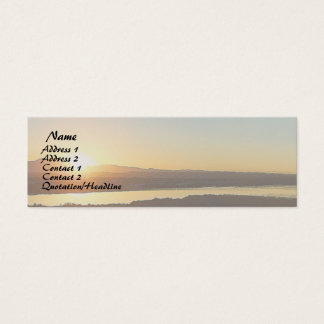 Ocean Beach Wetlands Dawn Sunrise Sea Coast Mini Business Card