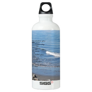 "Ocean beach with poem ""Gifts of a Day"" SIGG Traveler 0.6L Water Bottle"
