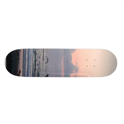 Ocean Beaches Sunset Clouds Palm Trees Skateboard Decks