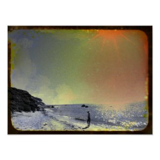 Ocean Beachy Poster