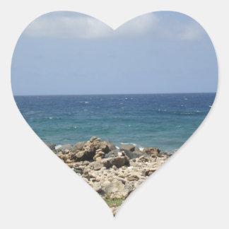 Ocean Beauty Heart Sticker