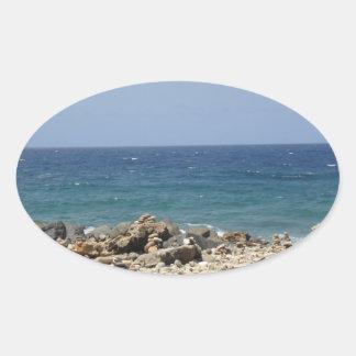 Ocean Beauty Oval Sticker