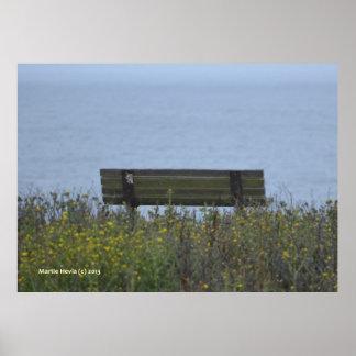 Ocean Bench Poster