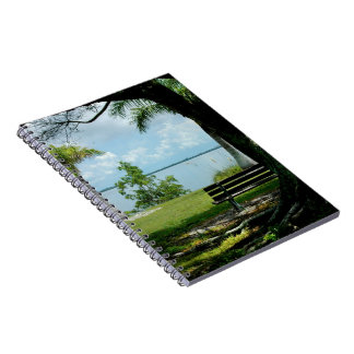 Ocean bench tree Notebook