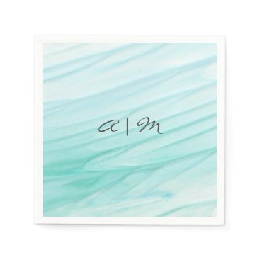 Beach Themed Ocean Bliss | Watercolor Personalized Napkin