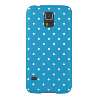 Ocean Blue 50s Style Polka Dot Galaxy S5 Case