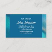 Ocean Blue Abstract Aqua Northern Lights Business Card