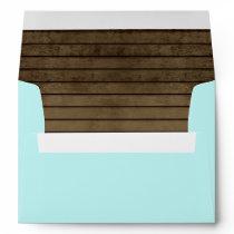 Ocean Blue and Barn Wood Envelope