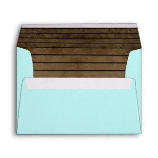 Ocean Blue and Barn Wood Envelope