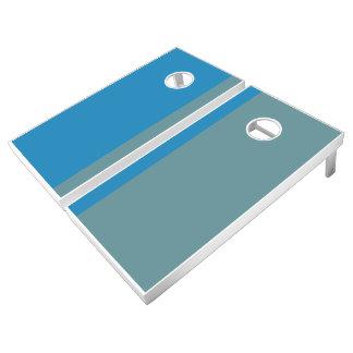 Ocean Blue and Sage Add Your Logo Cornhole Set