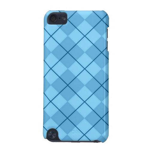 Ocean Blue Argyle iPod Touch Case