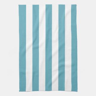Ocean Blue Awning Stripe Kitchen Towels