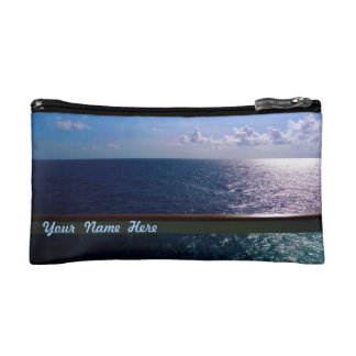 Ocean Blue BB1P Personalized Cosmetics Bags