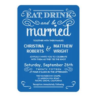 Ocean Blue Casual Country Wedding Invitations