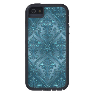 Ocean Blue Damask Gem Tone Tin Tile Steampunk iPhone SE/5/5s Case