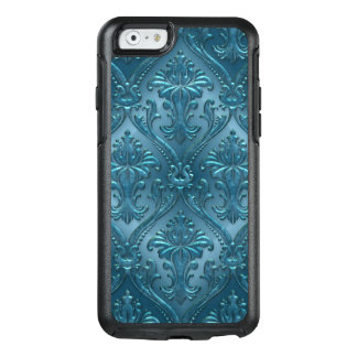 Ocean Blue Damask Gem Tone Tin Tile Steampunk OtterBox iPhone 6/6s Case
