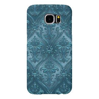 Ocean Blue Damask Gem Tone Tin Tile Steampunk Samsung Galaxy S6 Case
