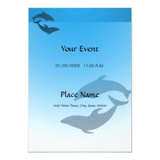 Ocean Blue Dolphin Invitation