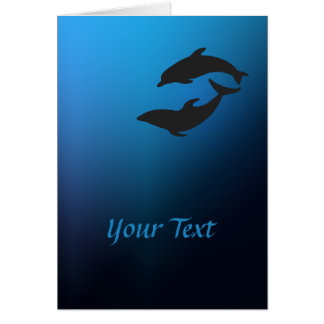 Ocean Blue Dolphins Greeting Card