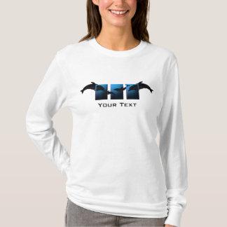 Ocean Blue Dolphins Ladies LS T-shirt