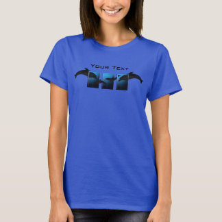 Ocean Blue Dolphins Ladies T-shirt