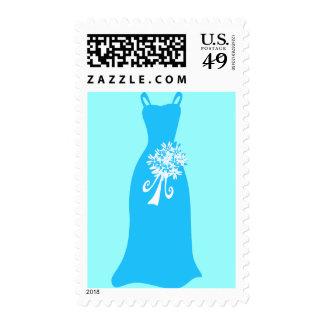 Ocean Blue Dress Stamp