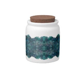 Ocean Blue Fractal Candy Jar