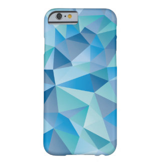 Ocean Blue Geometric Barely There iPhone 6 Case
