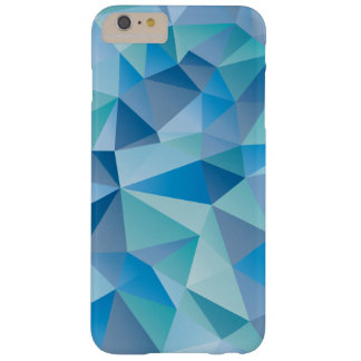 Ocean Blue Geometric Barely There iPhone 6 Plus Case