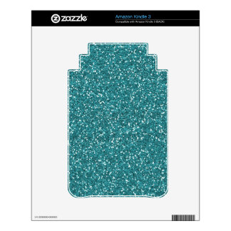 Ocean Blue Glitter Decals For The Kindle 3