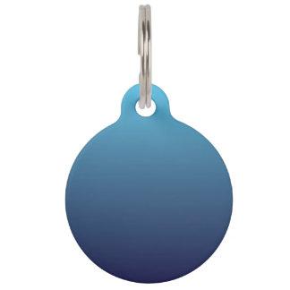 Ocean blue gradient template pet name tag