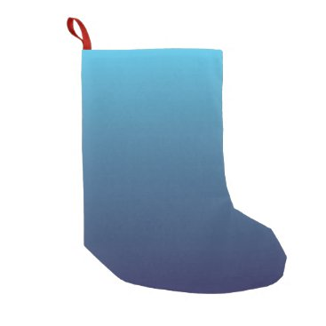 Ocean Themed Ocean blue gradient template small christmas stocking