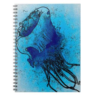 Ocean Blue Jellyfish Notebook