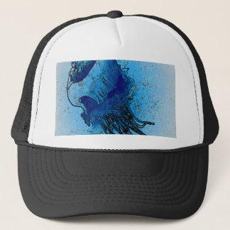 Ocean Blue Jellyfish Trucker Hat