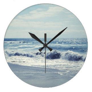 Ocean Blue Large Clock