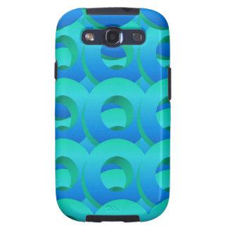 Ocean Blue Layered Circles Samsung Galaxy S3 Cases