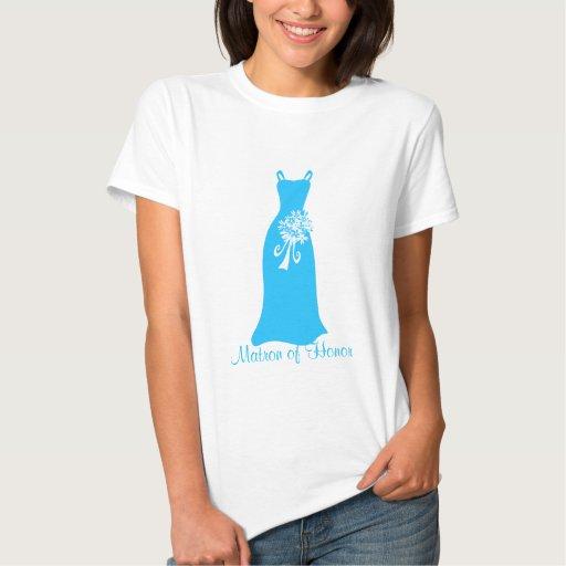 Ocean Blue Matron of Honor Dress