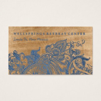 Ocean Blue Mehndi Yoga Retreat Business Card