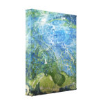 Ocean Blue Modern Abstract Stretched Canvas Print