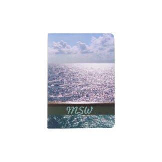 Ocean Blue Monogrammed