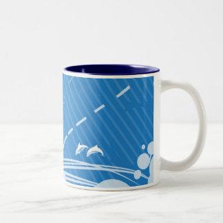 Ocean Blue mug Two-Tone Mug