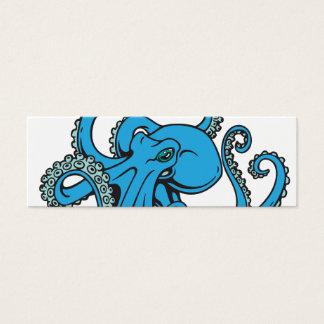Ocean Blue Octopus Mini Business Card