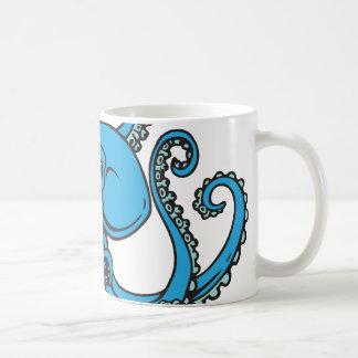 Ocean Blue Octopus Classic White Coffee Mug