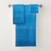 Ocean Blue Ombre Bath Towel Set